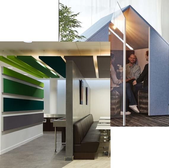améliorer le confort acoustique au bureau